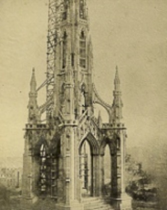 Sir Walter Scott Monument under construction. Photograph by William Henry Fox Talbot. Date: about 1841-44. Source: Scottish National Gallery of Modern Art.