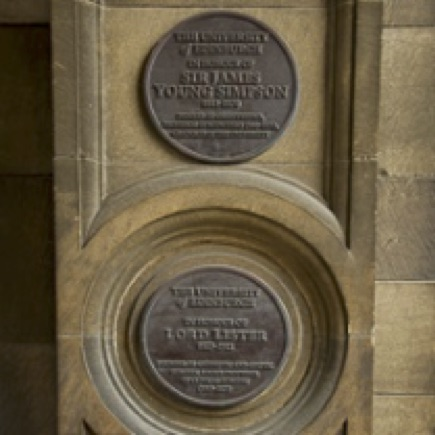 Plaques for Sir James Young Simpson and Lord Joseph Lister
