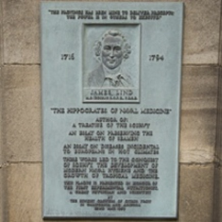 Plaque for James Lind