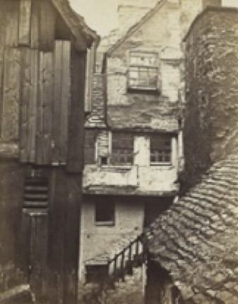 Dereliction in Bulls Close, Cowgate, photograph by Archibald Burns, 1858 (National Portrait Gallery)