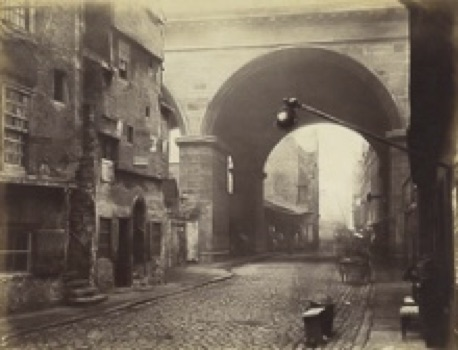 Crumbling houses on Cowgate by William Donaldson Clark, c.1860 (Scottish National Portrait Gallery)
